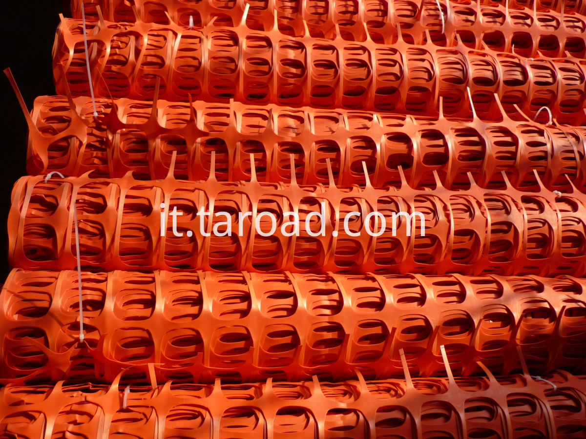 Orange plastic safety fence